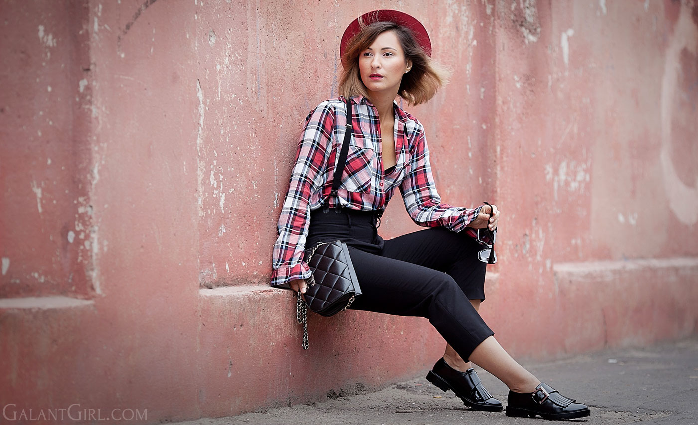 plaid-shirt-outfit-with-braces