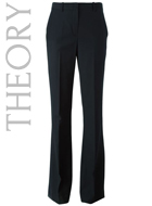 THEORY  'Brinton' flared trousers