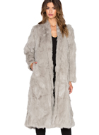 RABBIT FUR COAT ADRIENNE LANDAU
