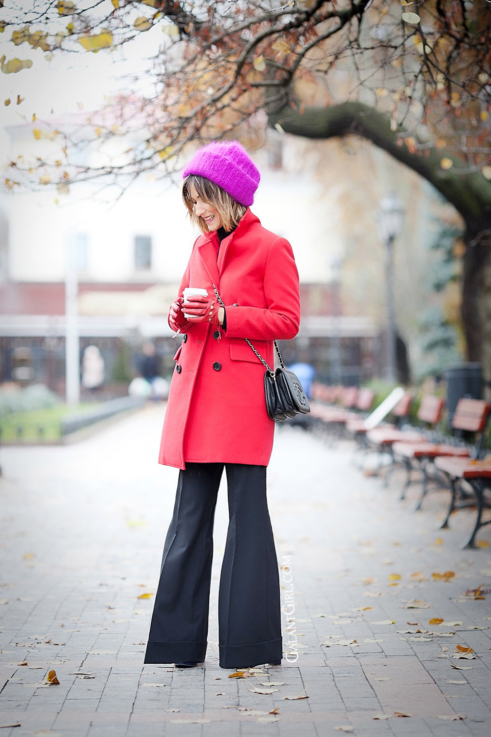 flare+trousers+outfit+for+fall
