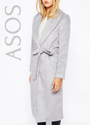 Missguided Belted Shawl Coat