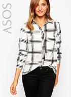 AX Paris Shirt in Grid Check