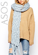 Pieces Chunky Knit Scarf