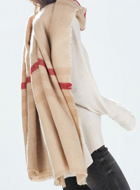 Beige Raw Edge Scarf