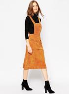 ASOS Midi Skirt in Suede