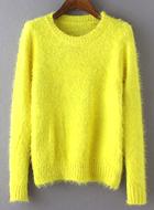 Yellow Long Sleeve Crop Sweater