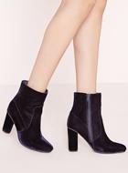 Missguided velvet boots
