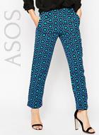 Asos Cropped Printed Pants