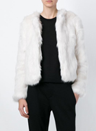 PHILANTHROPY  faux fur cropped jacket