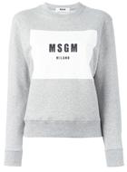 MSGM logo printed sweatshirt