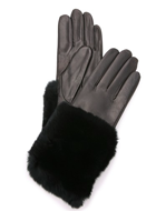 Carolina Amato Fur Leather Gloves
