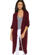 SEA Long Merino Wool Cardigan