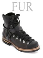 Free People FUR Hiker Boots