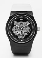 KENZO Black Large Tiger Watch