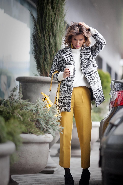 mustard-pants-plaid-coat