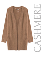 Mesh Knit Cashmere Cardigan