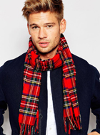 GLEN LOSSIE Wool Scarf