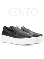 KENZO Platform leather slip-ons