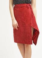 STEFANEL Leather Wrap Skirt