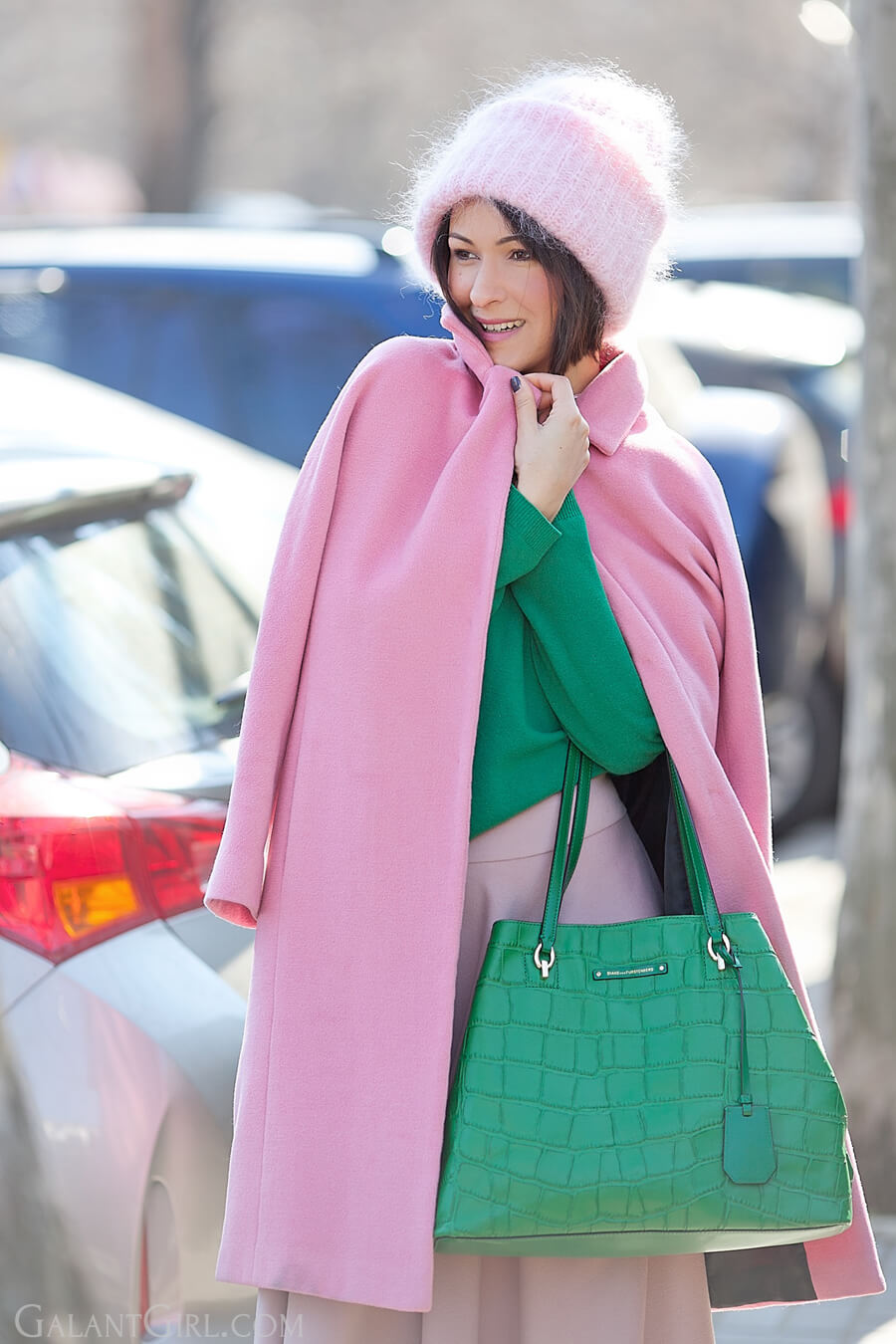 diane-von-furstenberg-bag and pink coat outfit for spring 2016