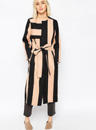 ASOS WHITE Striped Coat