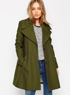 ASOS Coat with Oversized Collar
