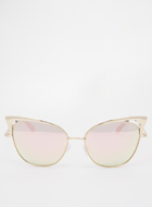 QUAY Sunglasses in Rose Gold