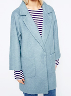 GANNI Blue Coat