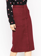 ASOS Pencil Skirt in Wool Mix Twill
