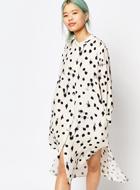 Zacro Maxi Shirt Dress in Paint Spot
