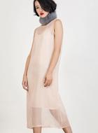 Light Salmon Sheer Dress
