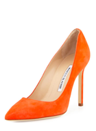 Manolo Blahnik Suede 105mm Pump