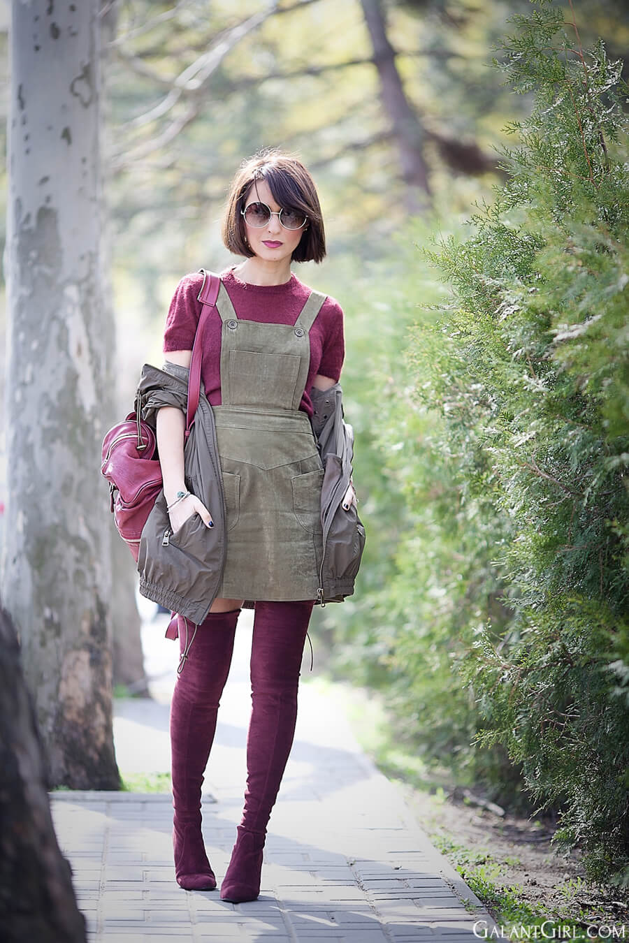 asos-suede-dress-Pinafore-Bodice_over-the-knee-boots-stuart-weitzman-outfit