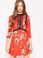 ASOS Premium Floral Printed Dress