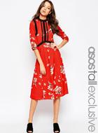 ASOS TALL Premium Print Dress