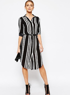Boohoo Wide Stripe Shirt Dress