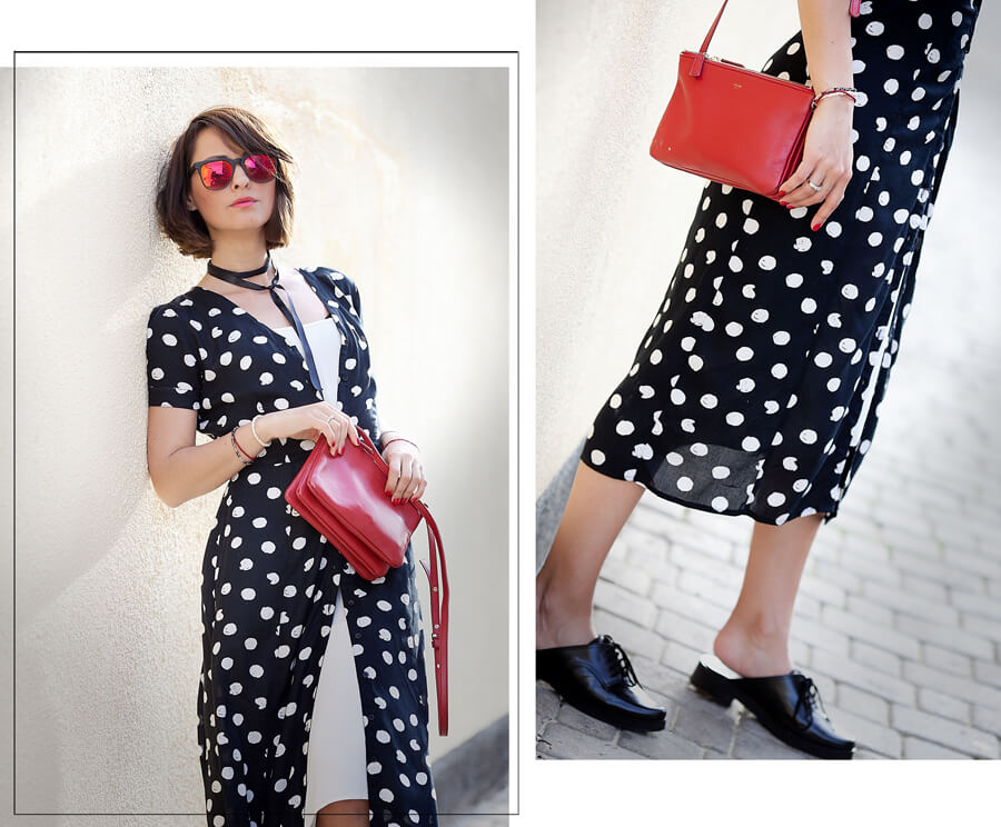 polka-dots-shirt-dress-outfit-for-summer-2016