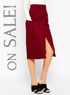 ASOS Premium A-Line Wrap Skirt