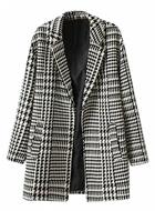 Houndstooth Woven Coat