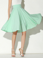 Light Green Midi Skater Skir