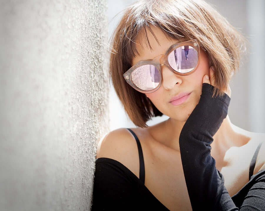Le-Specs-pink-Mirror-Sunglasses