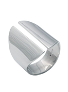 EDGE ONLY WEDGE RING SILVER
