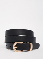 New Look Leather Skinny Belt