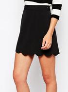 ASOS Mini Skirt with Scallop Hem