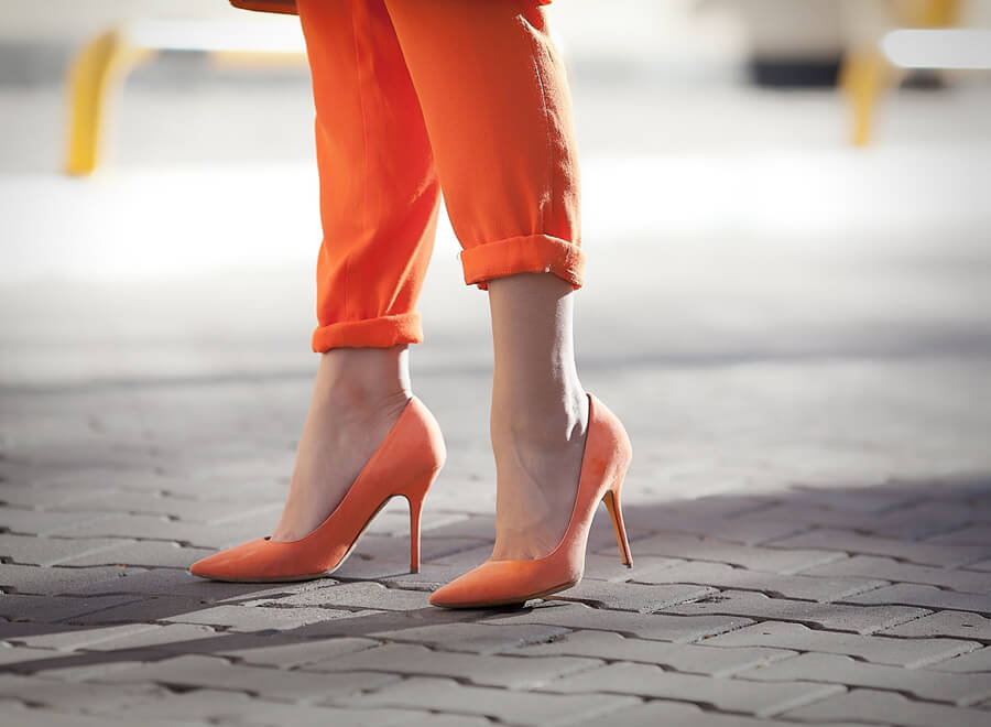 orange-suede-heeled-pumps