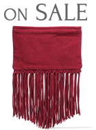 MAJE fringed suede clutch