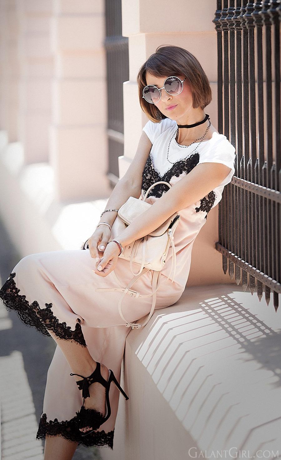 asos jumpsuit, комбинезон Asos, вещи в бельевом стиле, как носить вещи в бельевом стиле, кружевное платье,