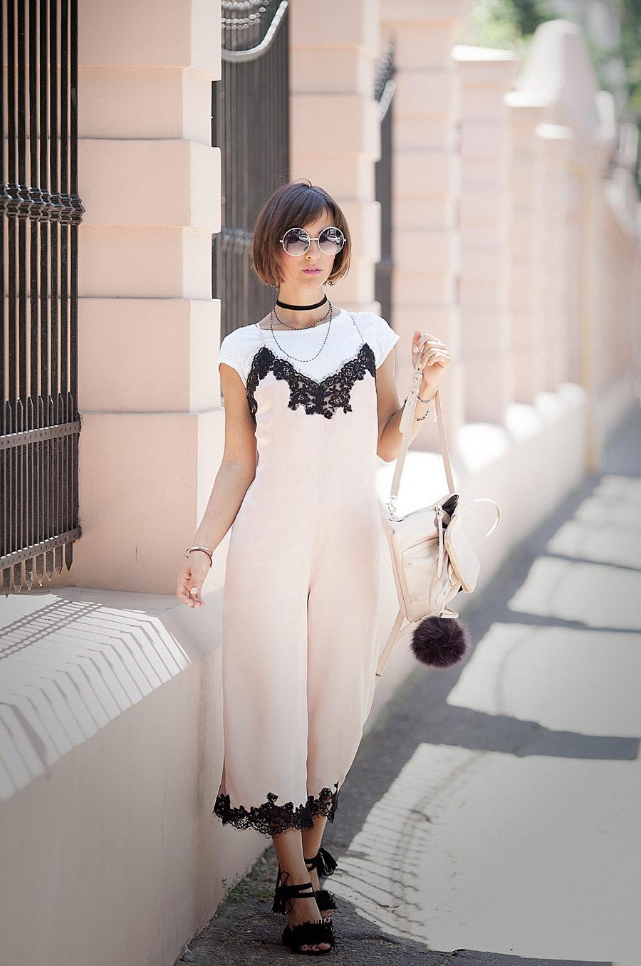 ASOS Boudoir Lace Trim Jumpsuit, best summer outfits, lace trim dresses, slim dress outfit for summer,