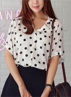 Polka Dots Shirt on Yesstyle