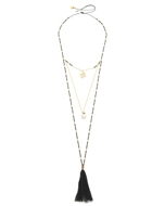 Mishky Hamsa Layers Necklace